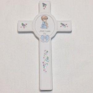 Precious Moments Porcelain 1999 Baby Cross Plaque